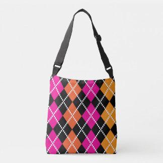 Sacola dos desenhistas: preto com blocos bolsas carteiro