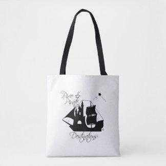 Sacola dos destinos do duende e do pirata bolsa tote