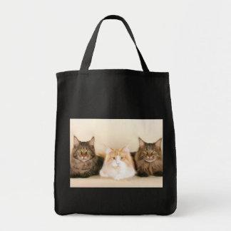 Sacola dos gatos de racum de Maine Bolsas Para Compras