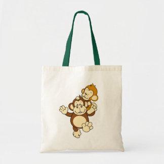 Sacola dos irmãos do macaco sacola tote budget