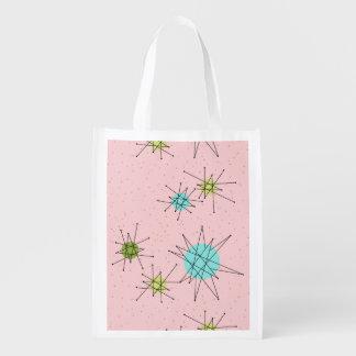 Sacola Ecológica A bolsa de compra atômica icónica cor-de-rosa de