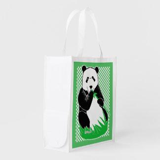 Sacola Ecológica A bolsa de compra reusável Checkered do verde do