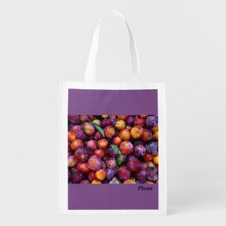 Sacola Ecológica A bolsa de compra reusável da ameixa