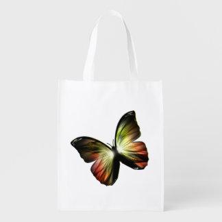 Sacola Ecológica A bolsa de compra reusável da borboleta artificial
