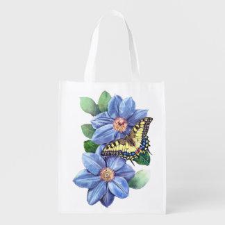Sacola Ecológica A bolsa de compra reusável da borboleta da