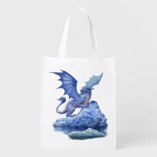 Sacola Ecológica A bolsa de compra reusável do dragão do gelo