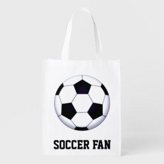 Sacola Ecológica A bolsa de compra reusável do fã de futebol