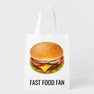 Sacola Ecológica A bolsa de compra reusável do fã do fast food