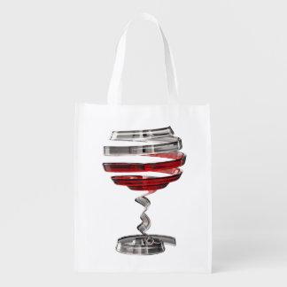 Sacola Ecológica A bolsa de compra reusável estranha do vidro de