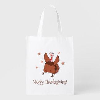 Sacola Ecológica Acção de graças feliz Turquia engraçada