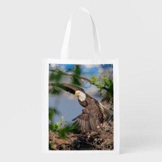 Sacola Ecológica Águia americana que sae do ninho