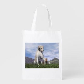 Sacola Ecológica Amizade do cão e gato