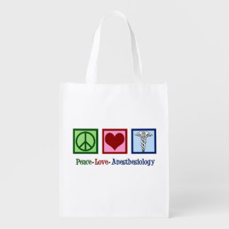 Sacola Ecológica Anesthesiology do amor da paz