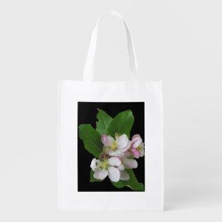 Sacola Ecológica Apple floresce sacola pequena das flores