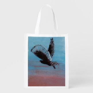 Sacola Ecológica Arte do pássaro do nascer do sol da coruja