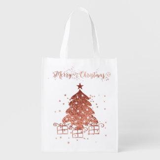 Sacola Ecológica Árvore de Natal vermelha