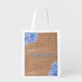 Sacola Ecológica As bolsas rústicas da festa de casamento da dália