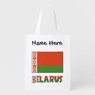 Sacola Ecológica Bandeira e Belarus bielorrussos com nome