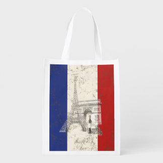 Sacola Ecológica Bandeira e símbolos de France ID156