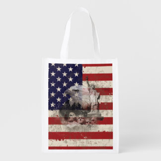 Sacola Ecológica Bandeira e símbolos dos Estados Unidos ID155