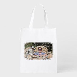 Sacola Ecológica Bennett - mini australiano - Rosie - praia de