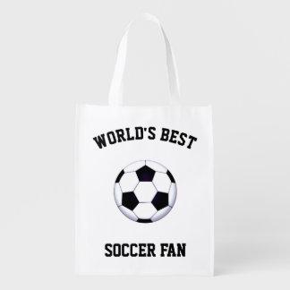 Sacola Ecológica Bolsa de compra reusável do fã de futebol do mundo