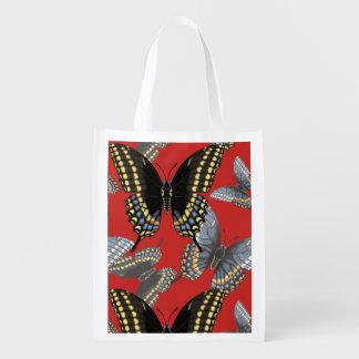 Sacola Ecológica Borboleta preta de Swallowtail