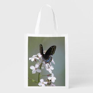 Sacola Ecológica Borboleta preta do swallowtail