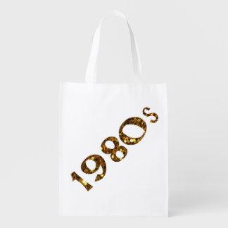 Sacola Ecológica brilho do ouro da nostalgia dos anos 80