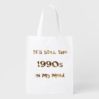 Sacola Ecológica brilho do ouro da nostalgia dos anos 90