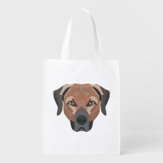 Sacola Ecológica Cão Brown Labrador da ilustração