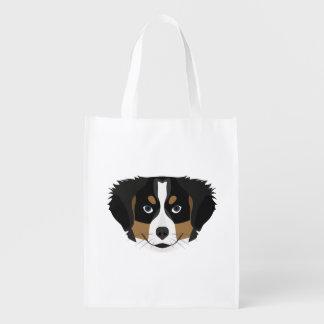 Sacola Ecológica Cão de montanha de Bernese da ilustração