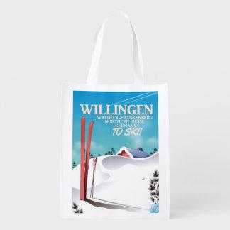 Sacola Ecológica Cartaz do viagem do esqui de Willingen