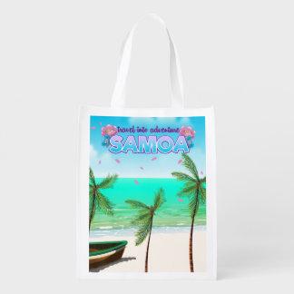 """Sacola Ecológica Cartaz do viagem na aventura de Samoa """"viagem"""""""