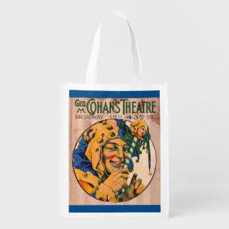 Sacola Ecológica cobrir do playbill do teatro de Cohan do 1920