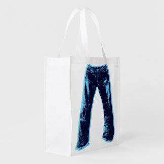 Sacola Ecológica Design de jeans da sarja de Nimes