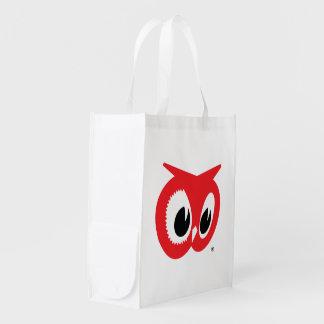 Sacola Ecológica Despensas vermelhas da coruja - a bolsa de compra