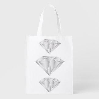 Sacola Ecológica Diamante branco para meu querido