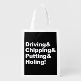 Sacola Ecológica Driving&Chipping&Putting&Holing (branco)