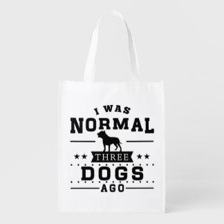 Sacola Ecológica Eu era três cães normais há