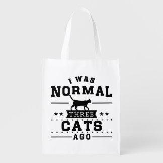 Sacola Ecológica Eu era três gatos normais há