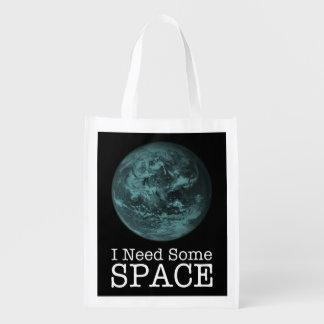 Sacola Ecológica Eu preciso algum saco reusável do espaço