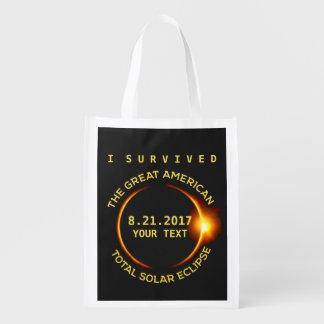 Sacola Ecológica Eu sobrevivi ao eclipse solar total 8.21.2017 EUA