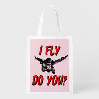 Sacola Ecológica Eu vôo, faz você? (preto)