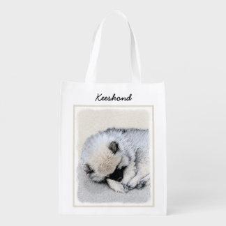 Sacola Ecológica Filhote de cachorro do Keeshond (dormir)