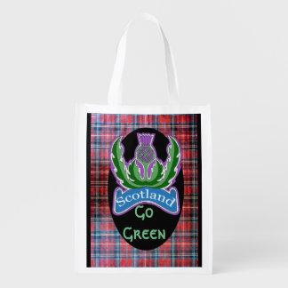"""Sacola Ecológica """"Flor a bolsa de compra reusável de Scotland"""""""