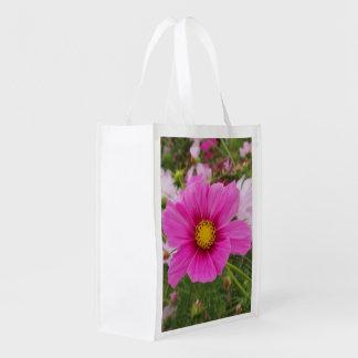 Sacola Ecológica Flor cor-de-rosa bonito do cosmos