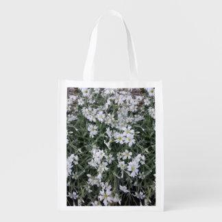 Sacola Ecológica Flores brancas
