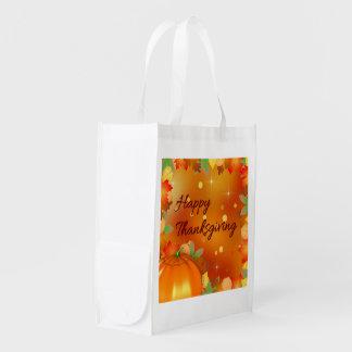 Sacola Ecológica Folhas de outono coloridas - saco reusável da