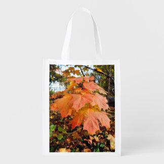 Sacola Ecológica Folhas de outono douradas
